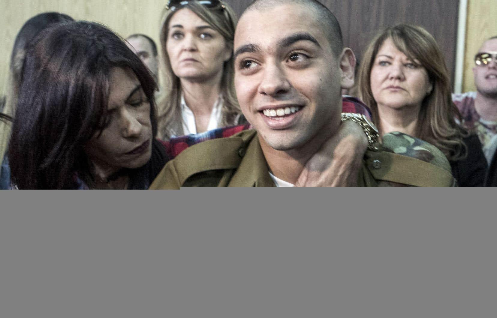 Elor Azaria et ses proches n'ont pas bronché à l'énoncé de la peine, prononcée après des mois d'un procès exceptionnel qui a captivé Israël.