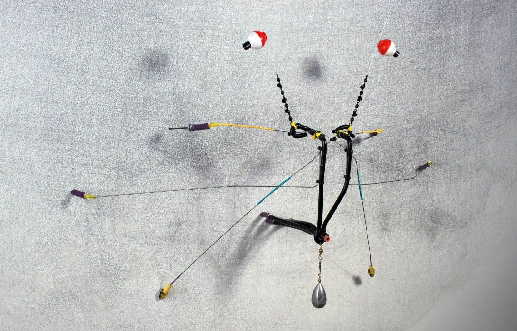 Jean-Pierre Gauthier, «Marqueurs d'incertitude: Décapode», 2017. Sculpture cinétique.