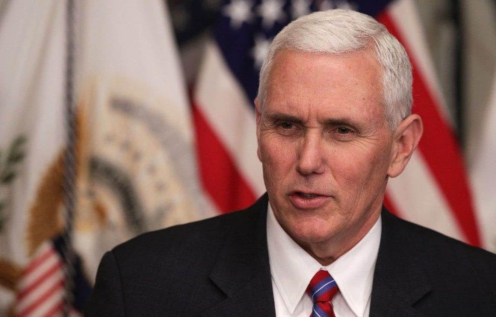 Le vice-président des États-Unis, Mike Pence