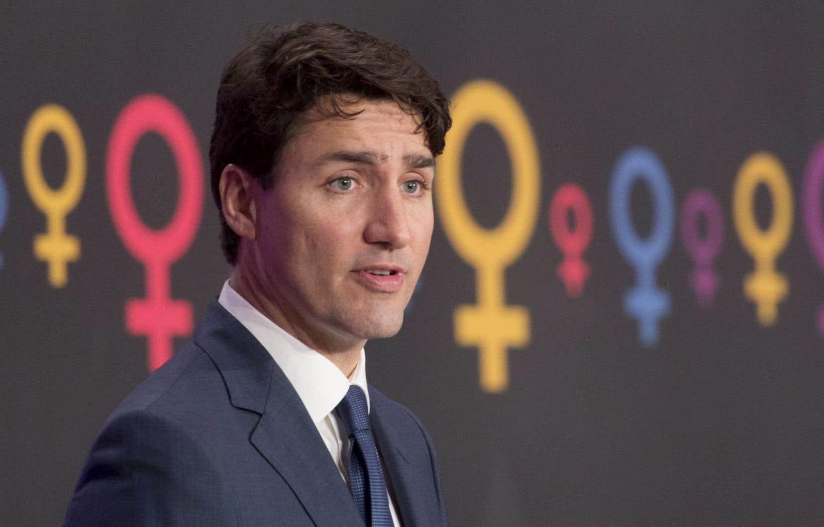 Justin Trudeau a profité de l'occasion de la Journée internationale des femmes pour faire cette annonce.