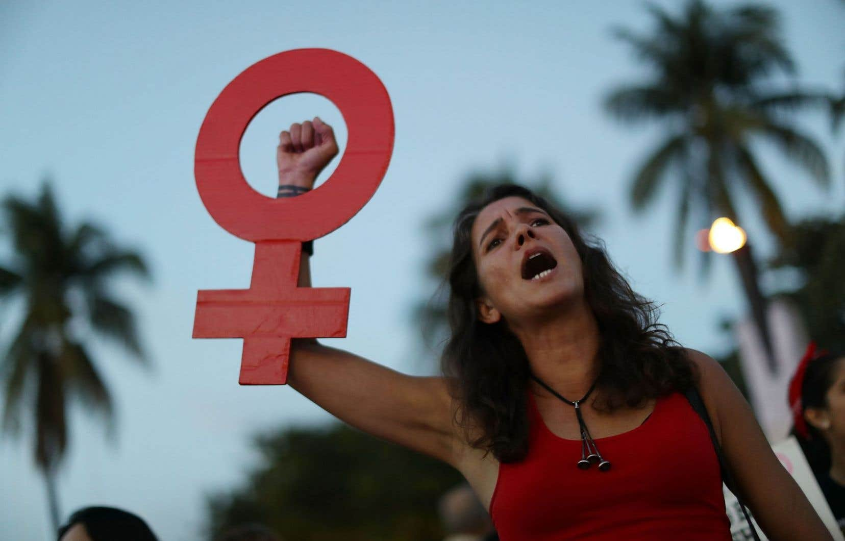 Alessandra Mondolfi a participé à la manifestation «Une journée sans femmes» à Miami, en Floride, mercredi.