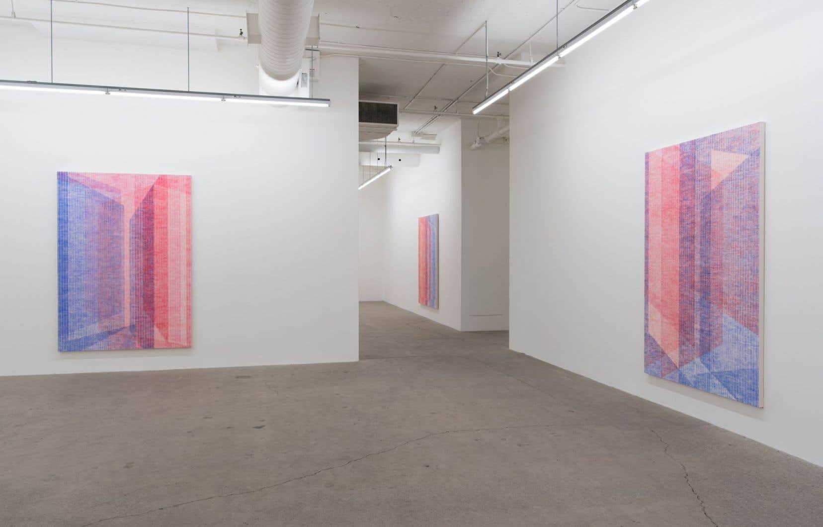 Vue de l'exposition «Être la porte qui s'ouvre», de Marie-Claire Blais, à la Galerie René Blouin
