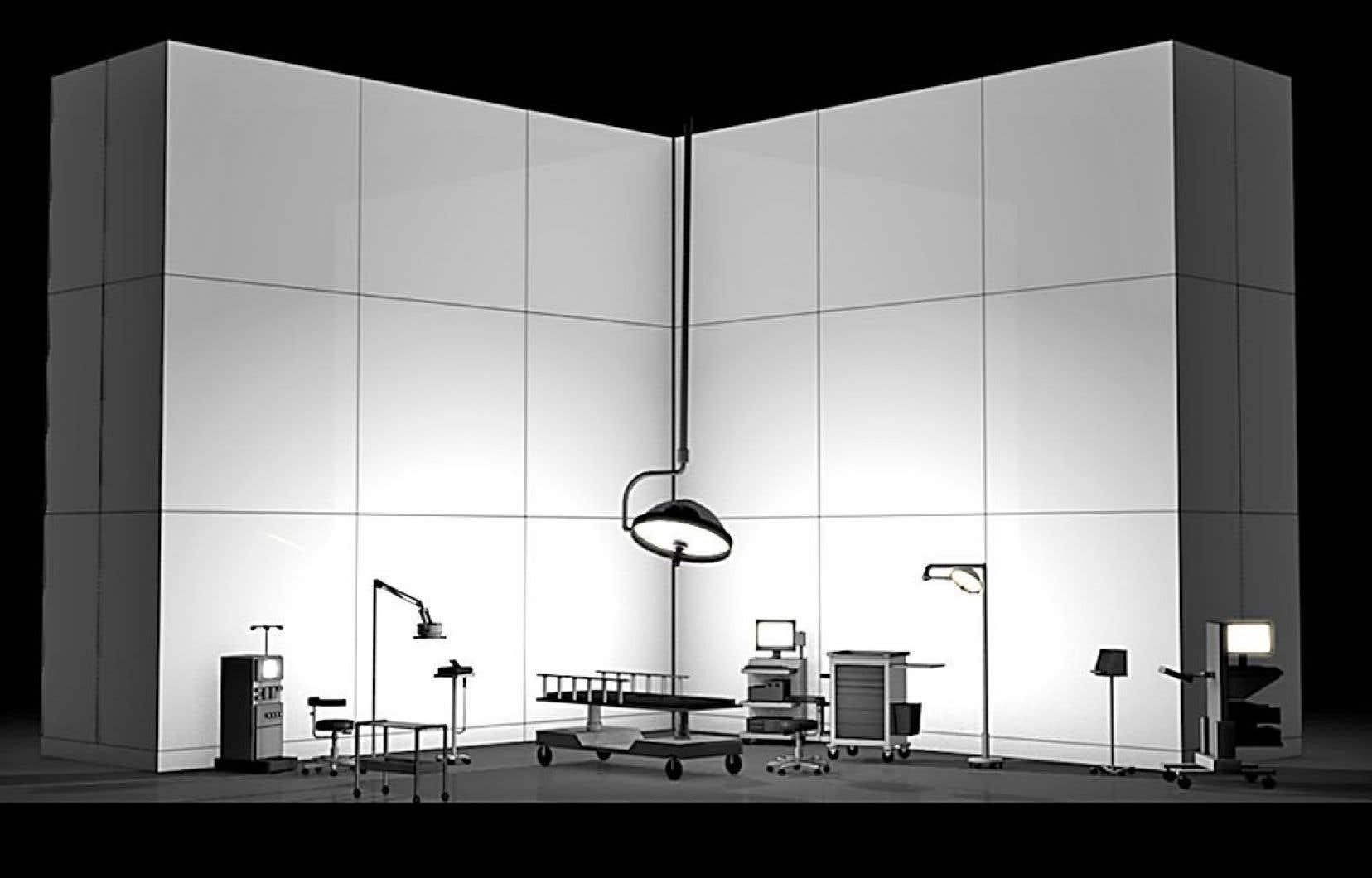 «La clinique», un des décors de l'opéra «Another Brick in the Wall»