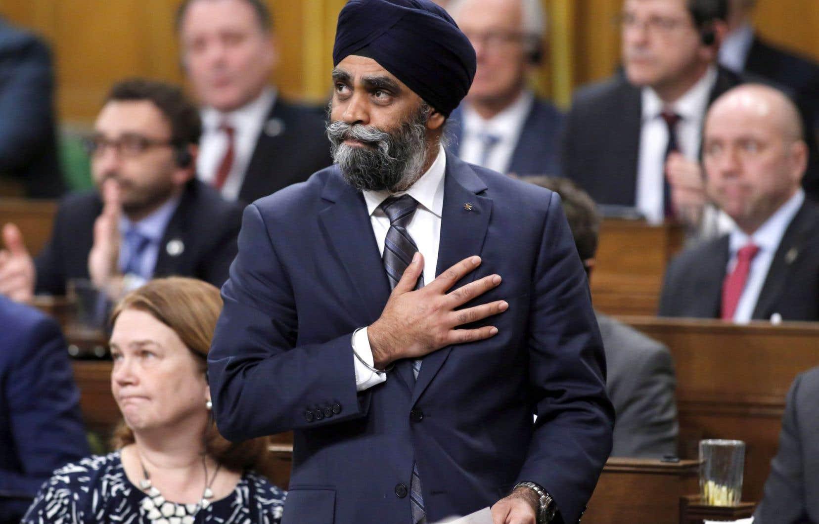 Le ministre de la Défense Harjit Sajjan, jeudi 9 mars 2017 à Ottawa