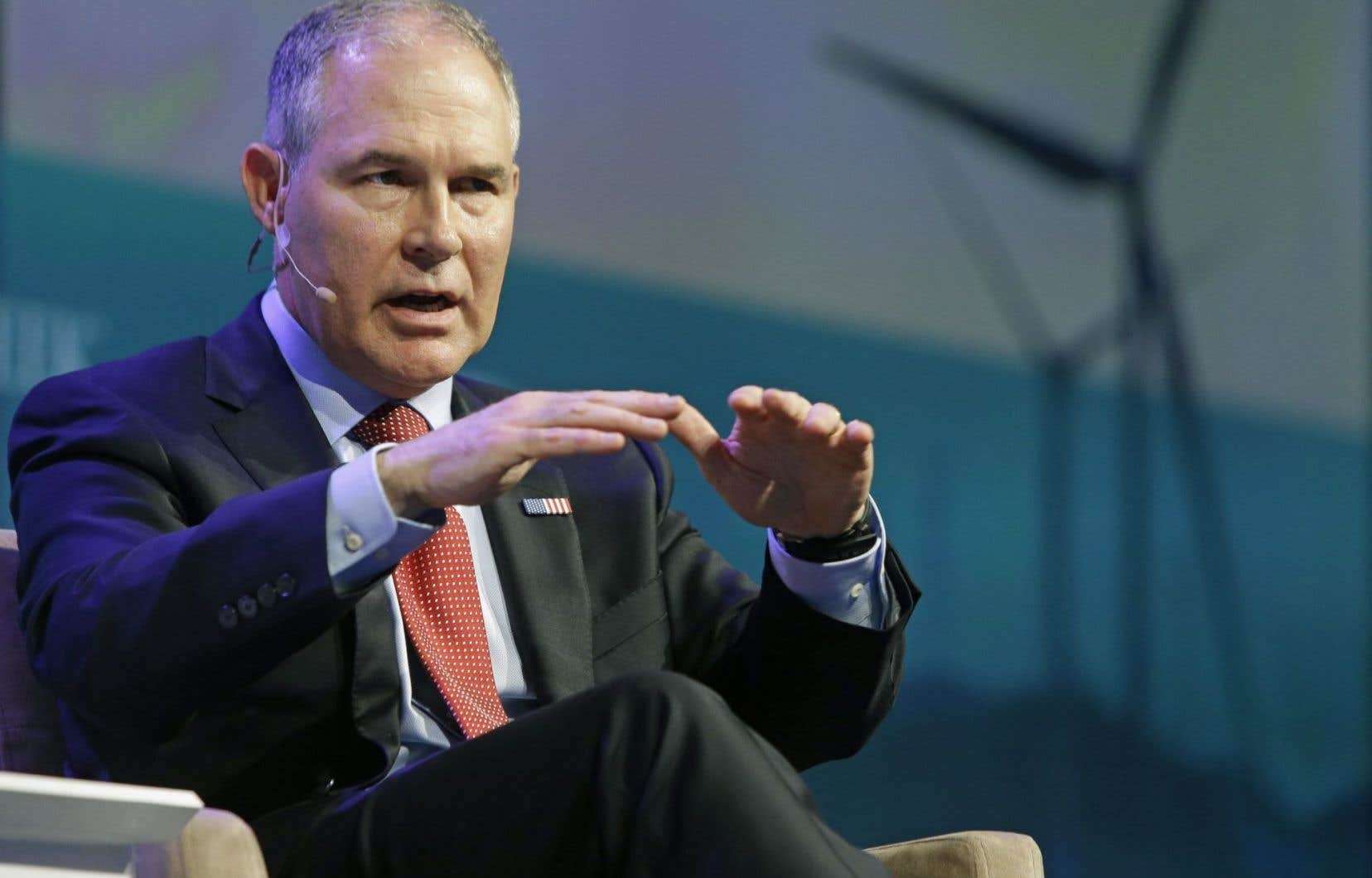 Le patron de l'Agence de protection de l'environnement des États-Unis, Scott Pruitt