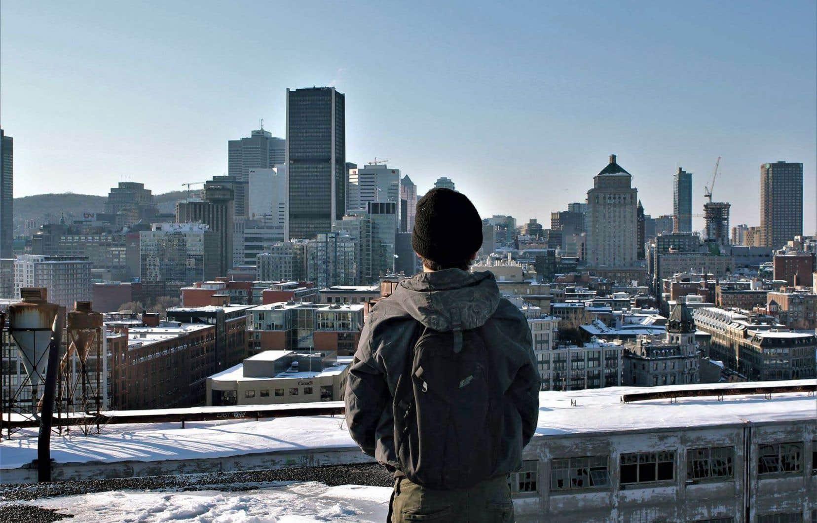 Estelle Sanfaçon a profité de sa semaine de relâche pour faire de la photo dans le Vieux-Montréal.