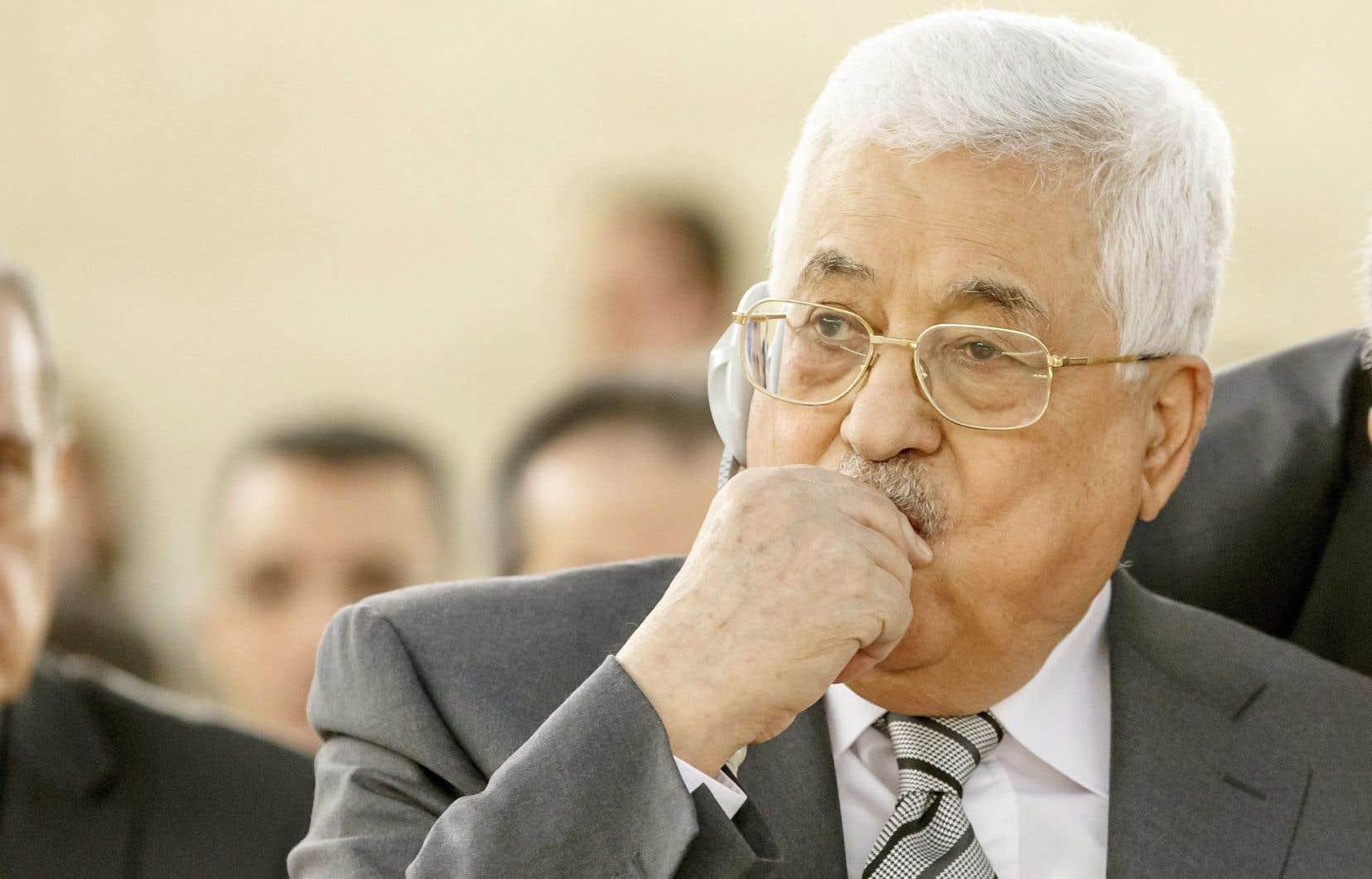 Le président palestinien, Mahmoud Abbas