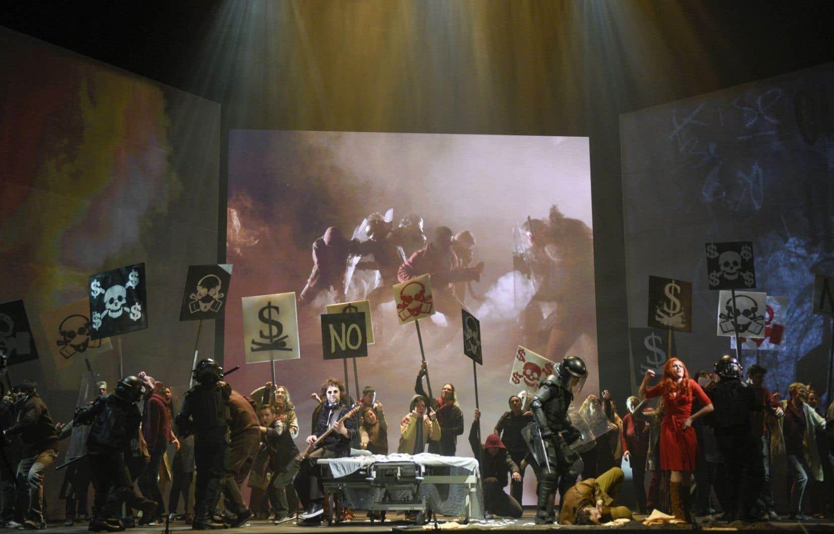 À partir de l'histoire inventée par Roger Waters — présent et ovationné samedi soir à Wilfrid-Pelletier —, on a dûment créé un nouvel opéra.