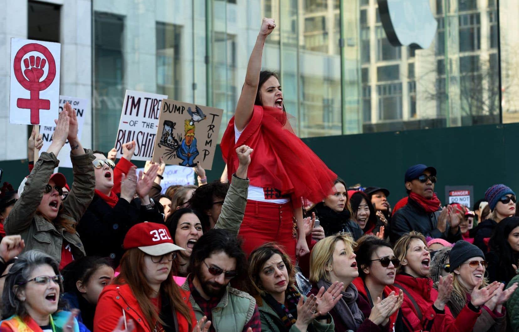 Cette réunion est lancée cinq jours après la Journée internationale des femmes, lors de laquelle des centaines de milliers de femmes ont battu le pavé partout dans le monde.
