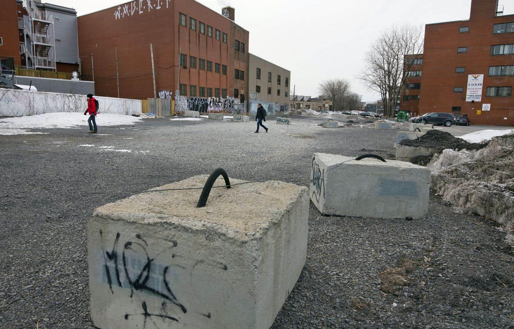 En colère à la suite du déboisement effectué par Olymbec en 2013, les résidants de ce quartier de Rosemont s'étaient approprié l'espace désormais recouvert de gravier.