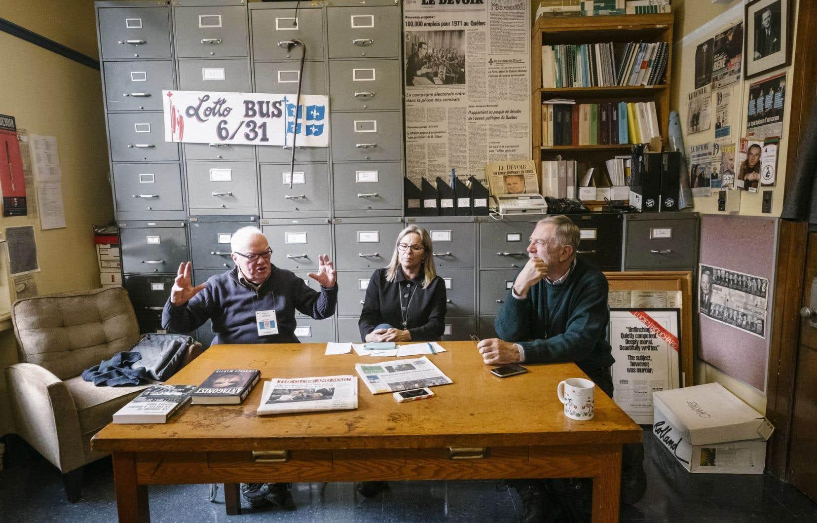 Robert McKenzie, Anne-Louise Gagnon et Kevin Dougherty ont couvert la politique québécoise pour les journaux canadiens-anglais pendant des décennies.