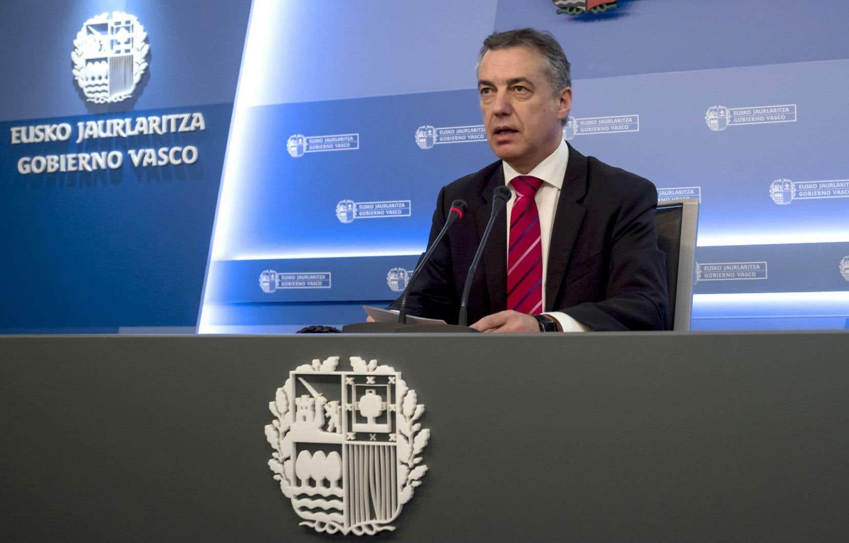 Inigo Urkullu, le chef du gouvernement régional basque