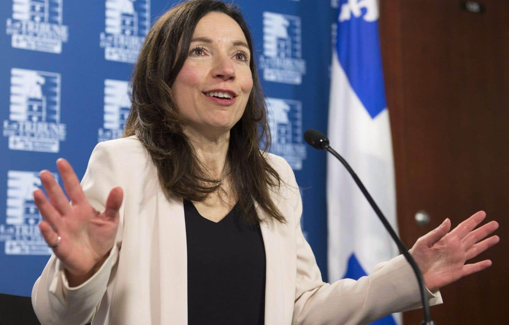La nouvelle chef du Bloc québécois, Martine Ouellet