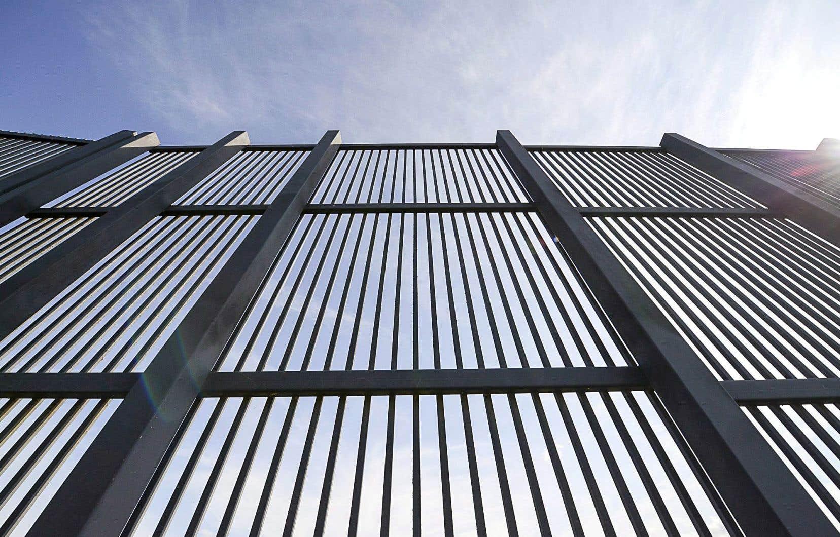 Le mur frontalier entre les États-Unis et le Mexique, à Brownsville, au Texas