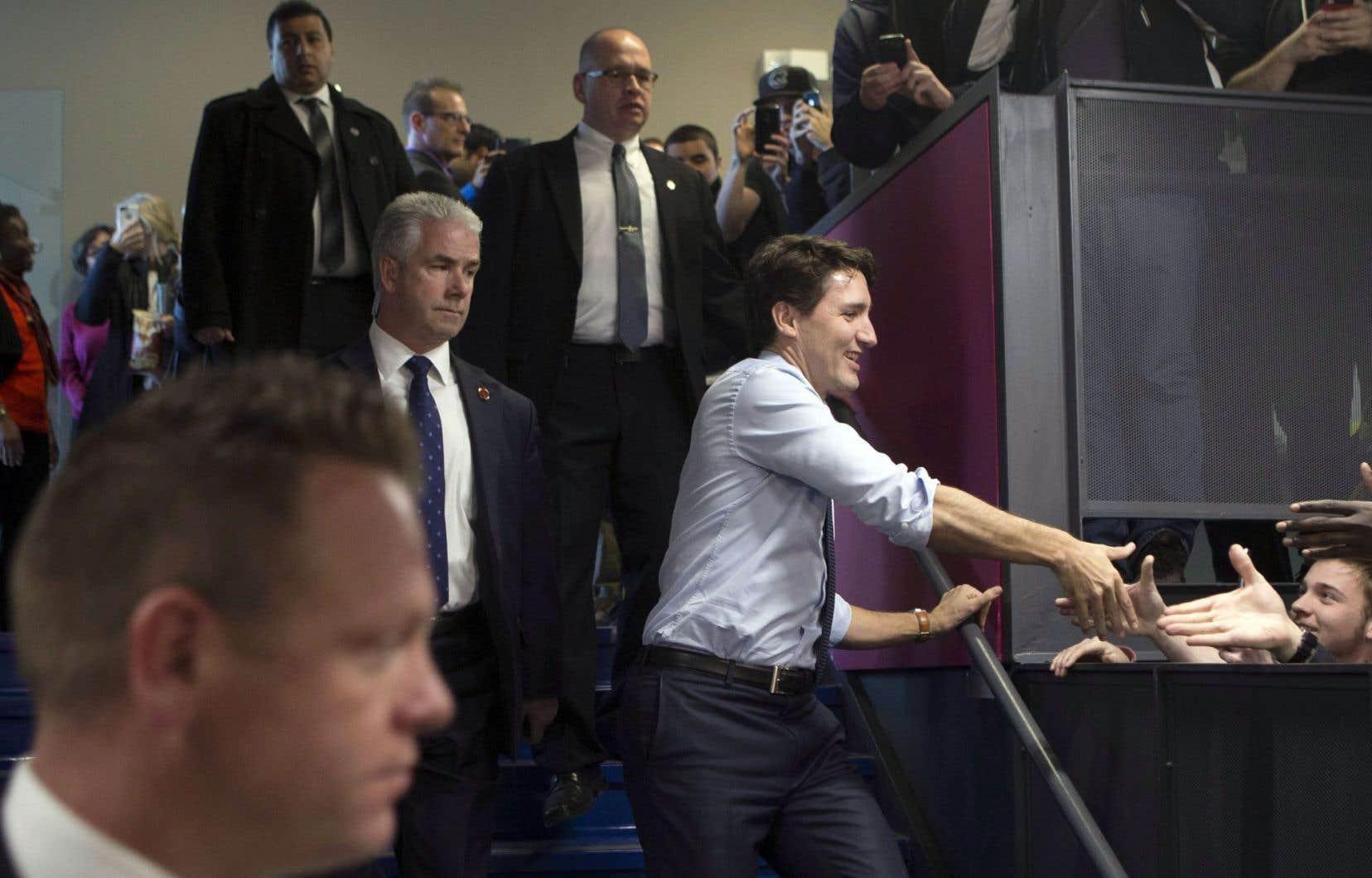 Le premier ministre du Canada, Justin Trudeau, est allé dans la région de Toronto, jeudi, afin d'y défendre le deuxième budget de son gouvernement.