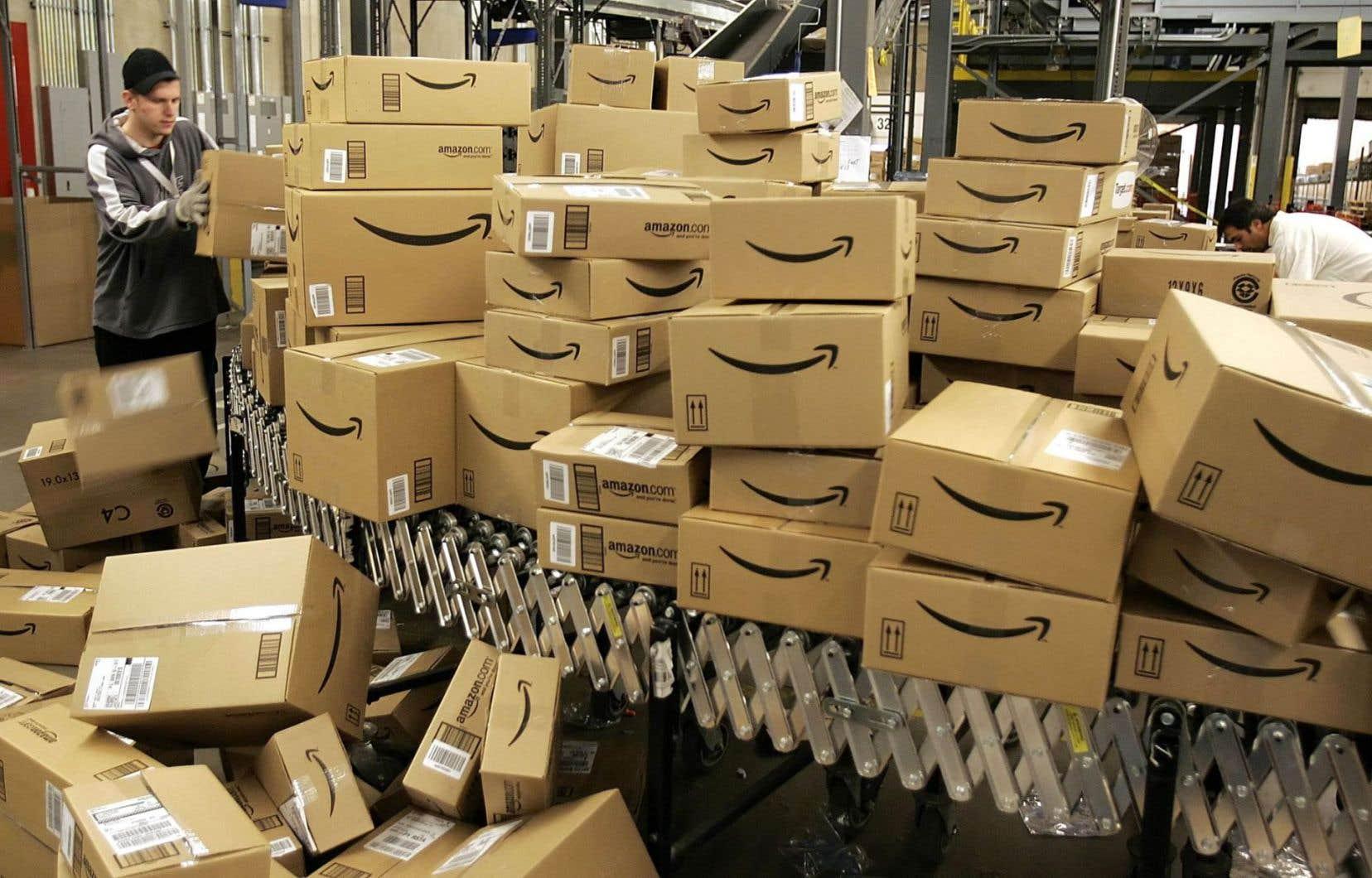 Amazon a enregistré un chiffre d'affaires de 136 milliards $US en 2016 de même qu'un bénéfice net de 2,4 milliards $US.