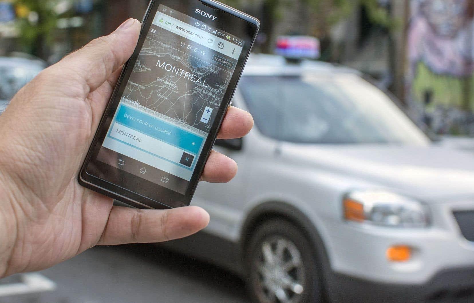 De nombreux chauffeurs Uber ont reçu des constats d'infraction dans les derniers mois.