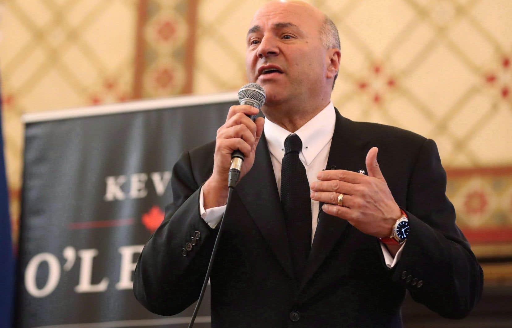 Le candidat à la chefferie du Parti conservateur du Canada Kevin O'Leary