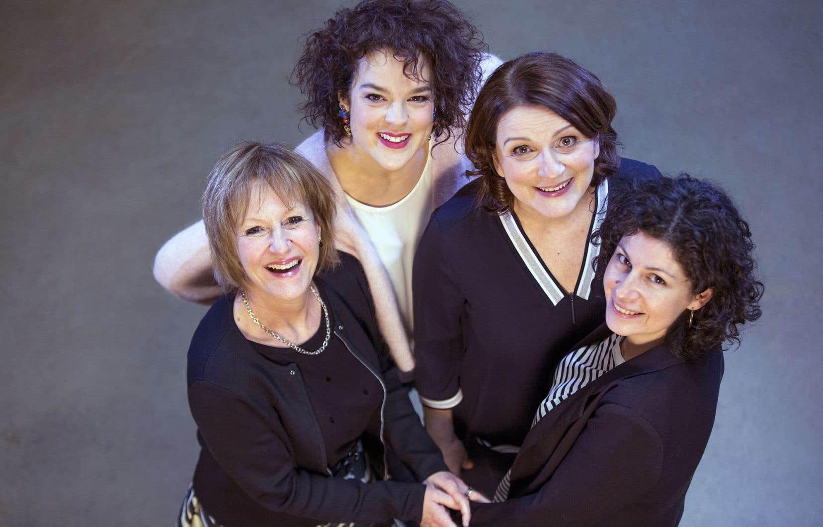 Lorraine Pintal, Hélène Bourgeois-Leclerc, Marie-Thérèse Fortin et Catherine Vidal, quatre figures de la prochaine programmation du TNM