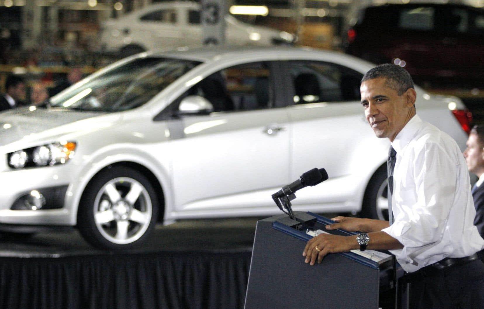 En 2009, Barack Obama a souhaité que la rémunération des dirigeants de GM plafonne à 500 000 $US, rappelle M. Chartrand.