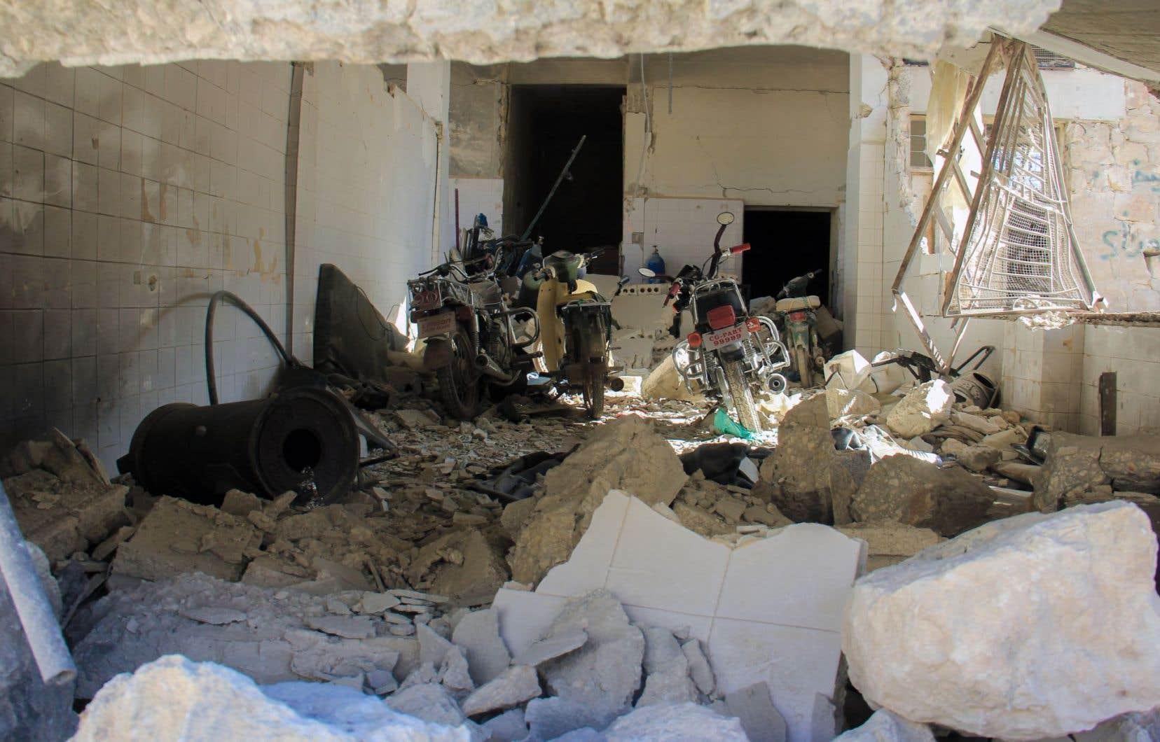 L'attaque àKhan Cheikhoun a fait 86 morts. L'hôpital où étaient soignés les blessés a ensuite été bombardé.
