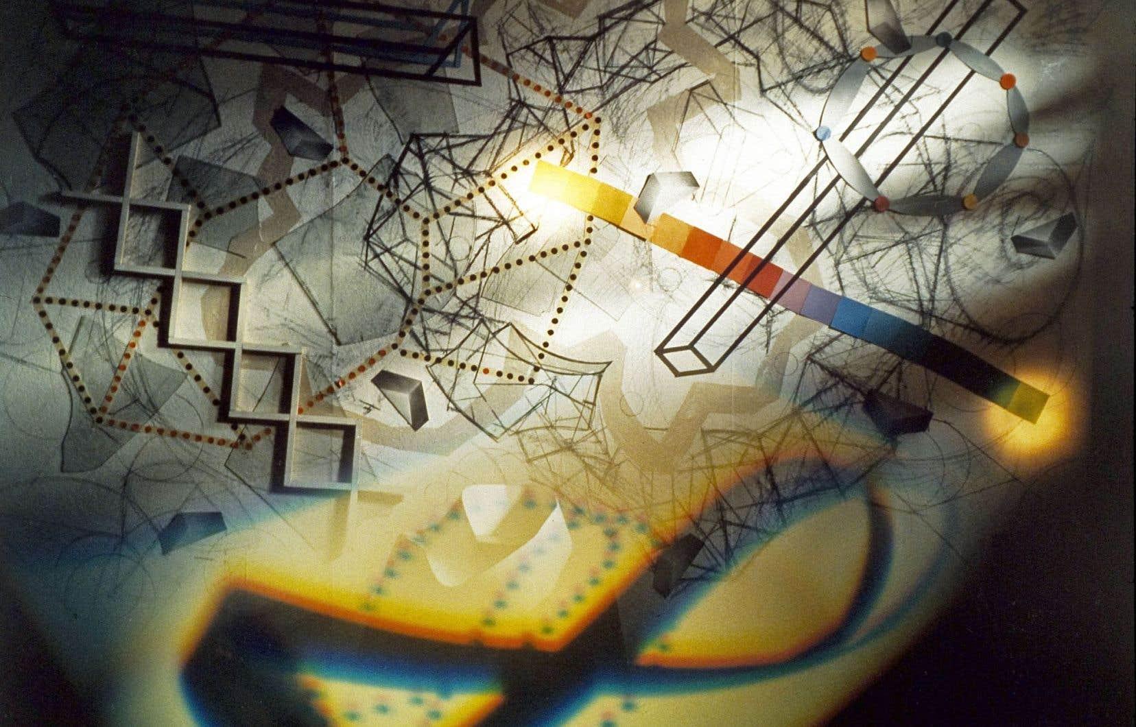 Serge Tousignant, «L'oblique piégée», 1988. Photographie couleur.