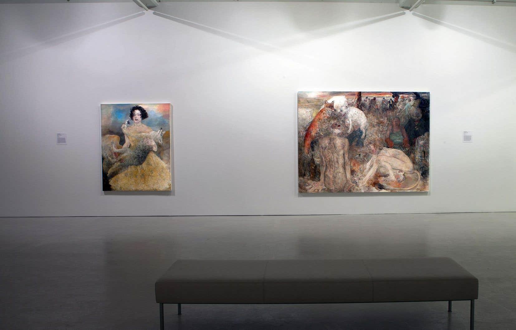 Le musée met l'accent sur la production de la dernière décennie de Marion Wagschal.