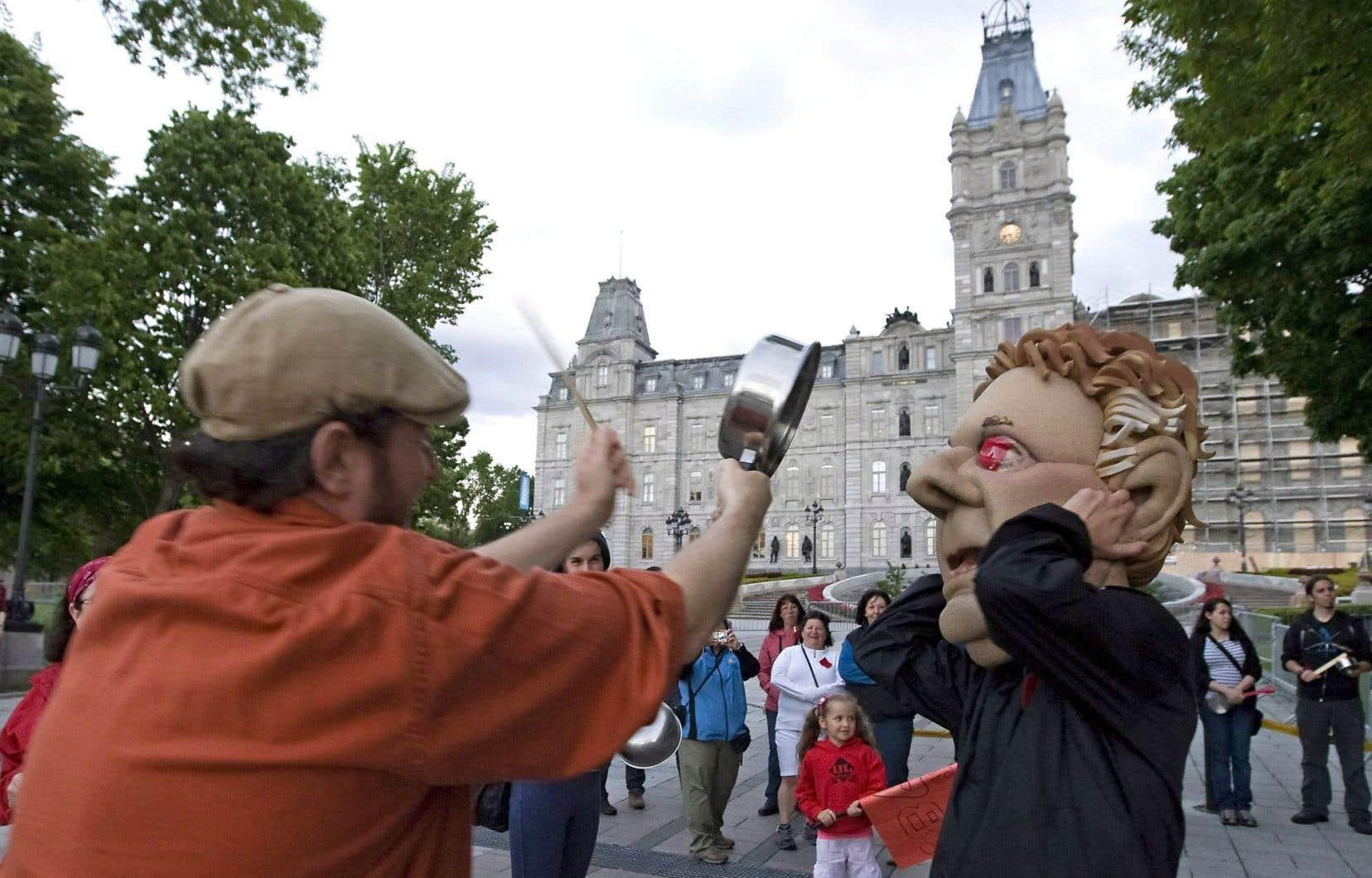 Plusieurs manifestations se sont déroulées à Québec au cours du conflit étudiant en 2012.
