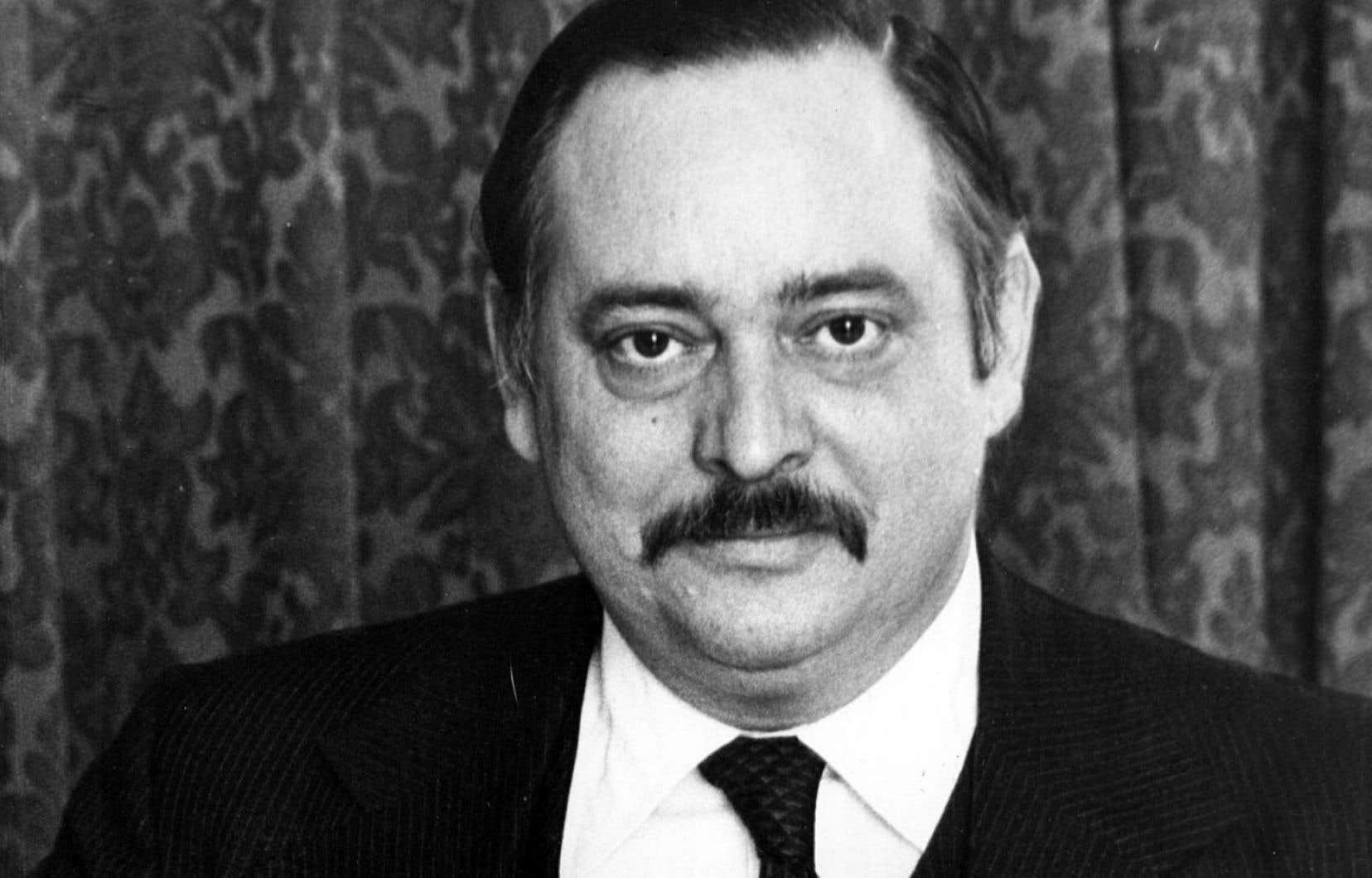 Jacques Parizeau, alors ministre des Finances, lors de la présentation de son premier budget en 1977