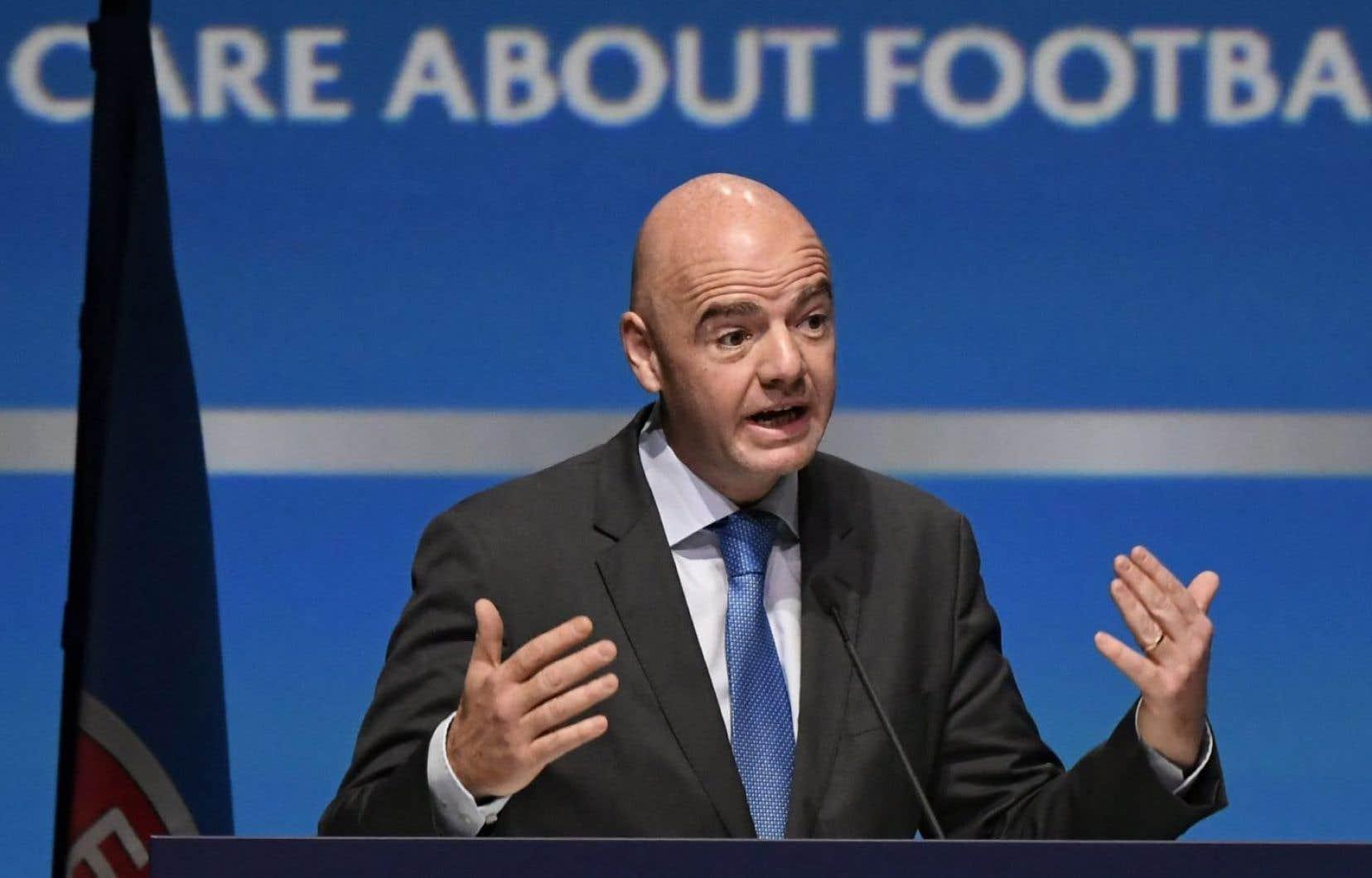 L'actuel président de la FIFA, Gianni Infantino