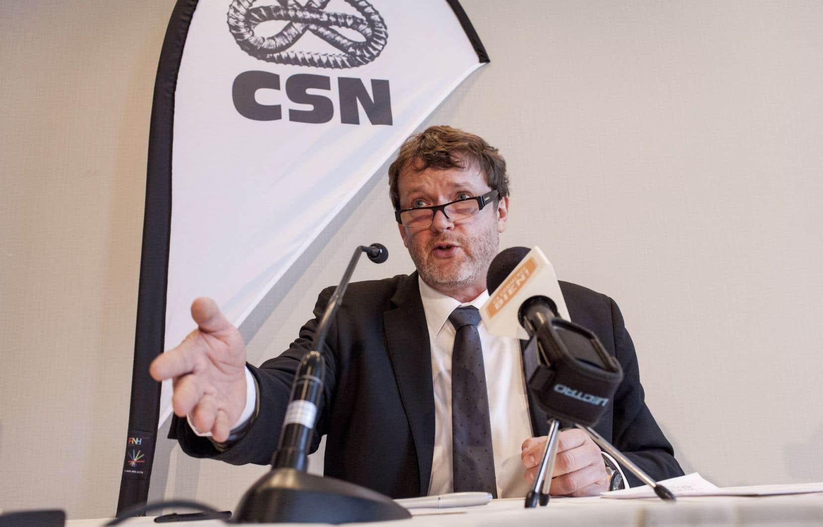 Le président de la CSN, Jacques Létourneau