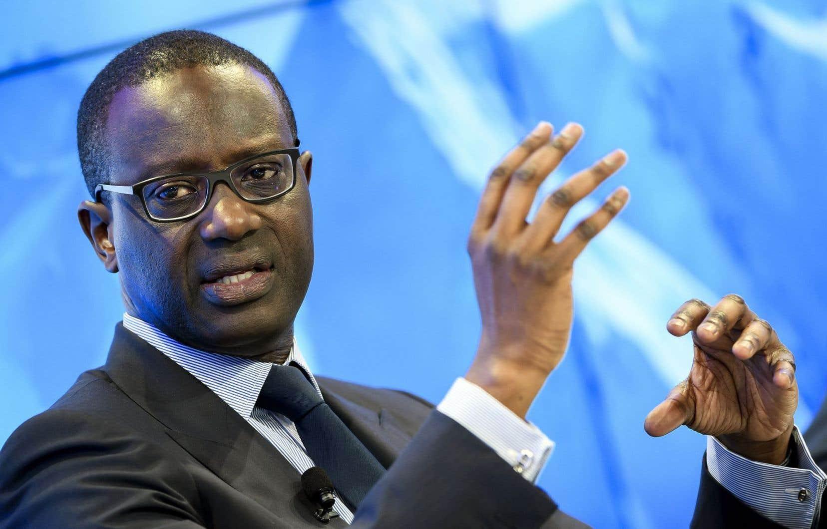 Le directeur général de Crédit Suisse, Tidjane Thiam
