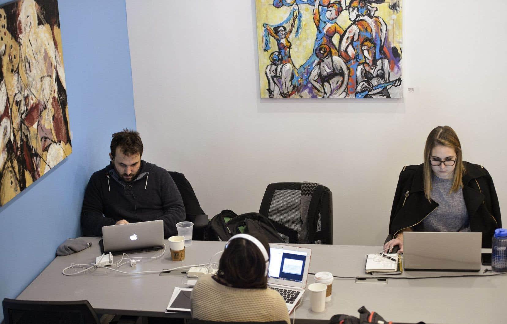 On comptait en 2015 pas moins de 1084 espaces communautaires de travail dans 634 villes de 92 pays. Montréal et le Québec sont du nombre, avec une trentaine d'espaces dans la métropole et une vingtaine ailleurs au Québec.
