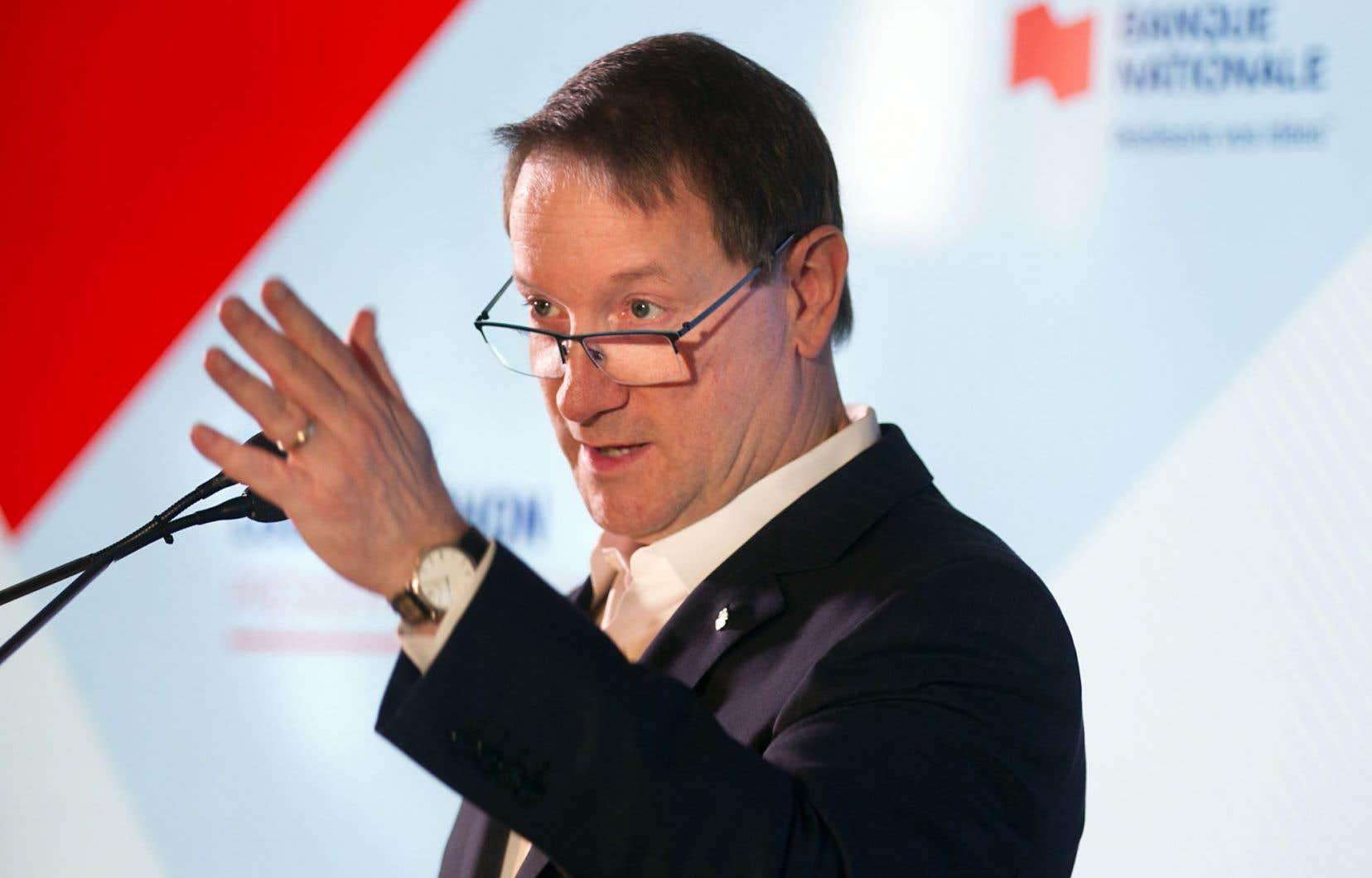 Le président et chef de la direction de la Banque Nationale, Louis Vachon