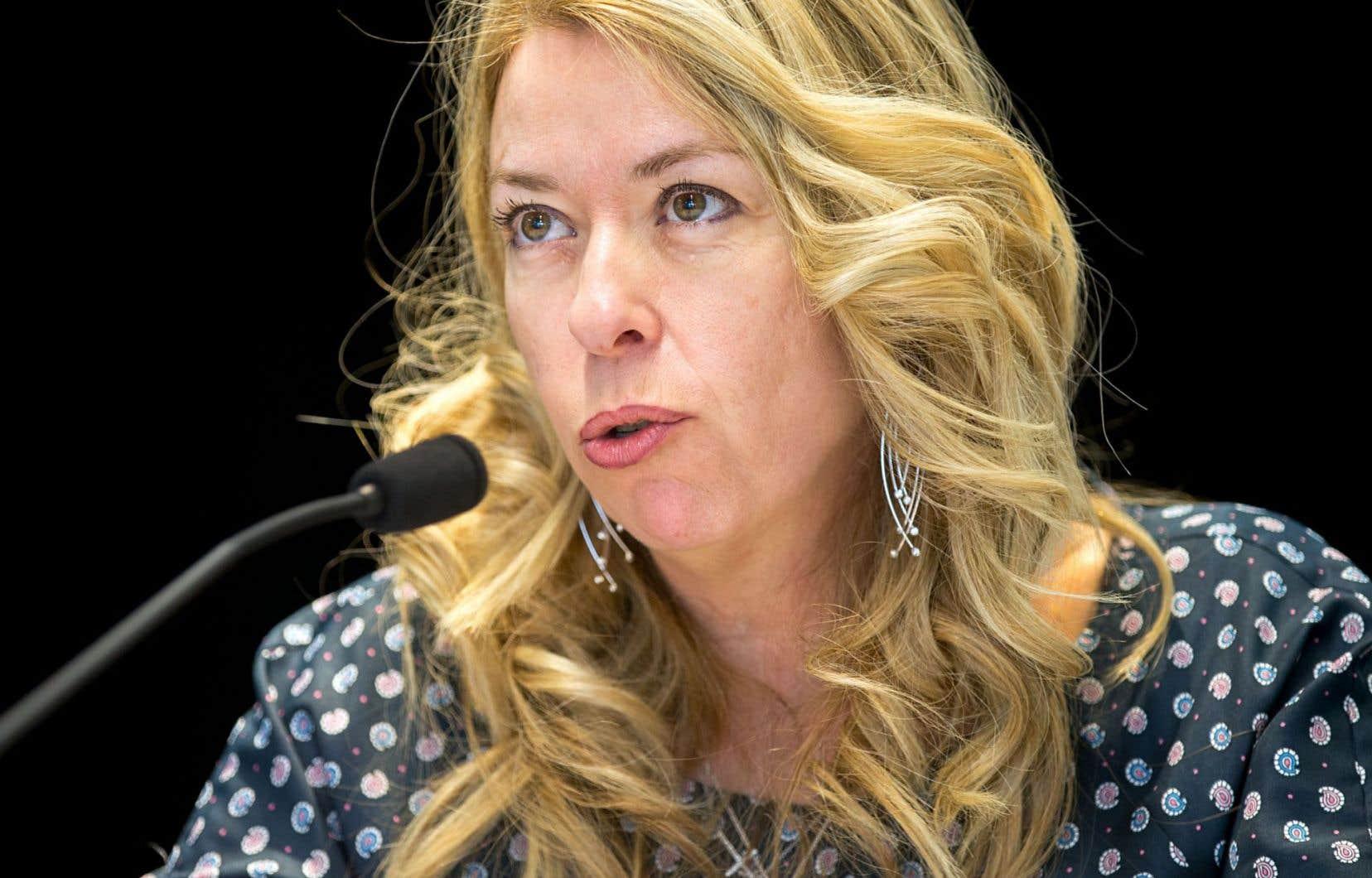 La ministre québécoise du Travail, Dominique Vien