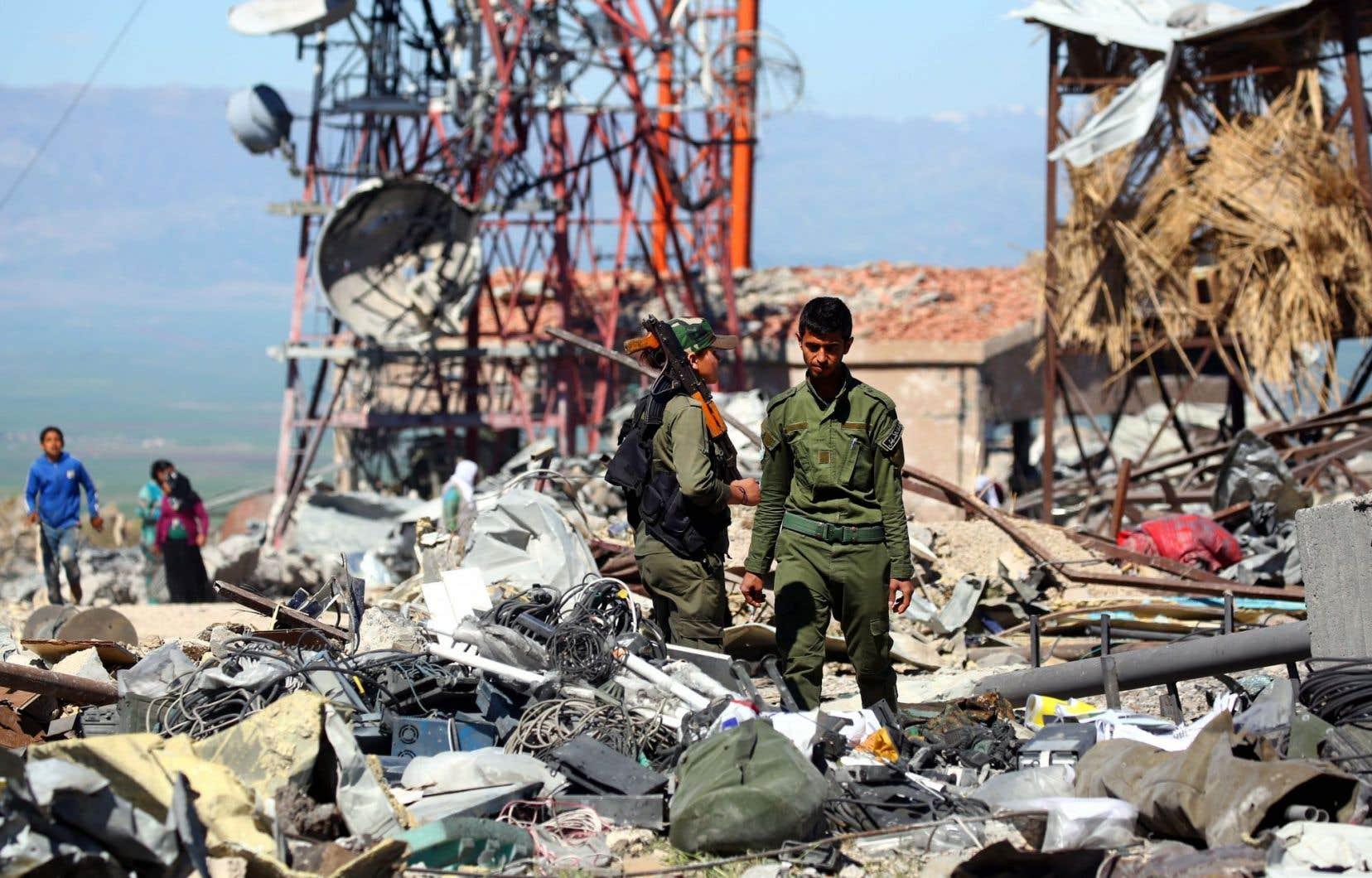 Selon l'OSDH, 18 personnes ont péri dans les frappes turques près de la ville d'Al-Malikiyah, proche de la frontière turque.