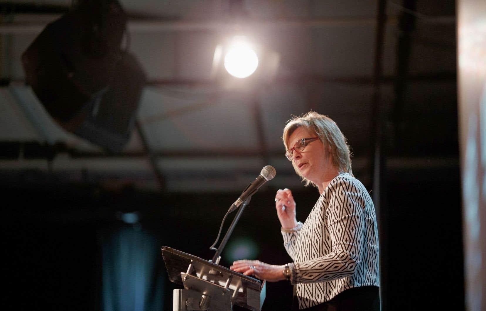 La rédactrice en chef du «Devoir», Luce Julien