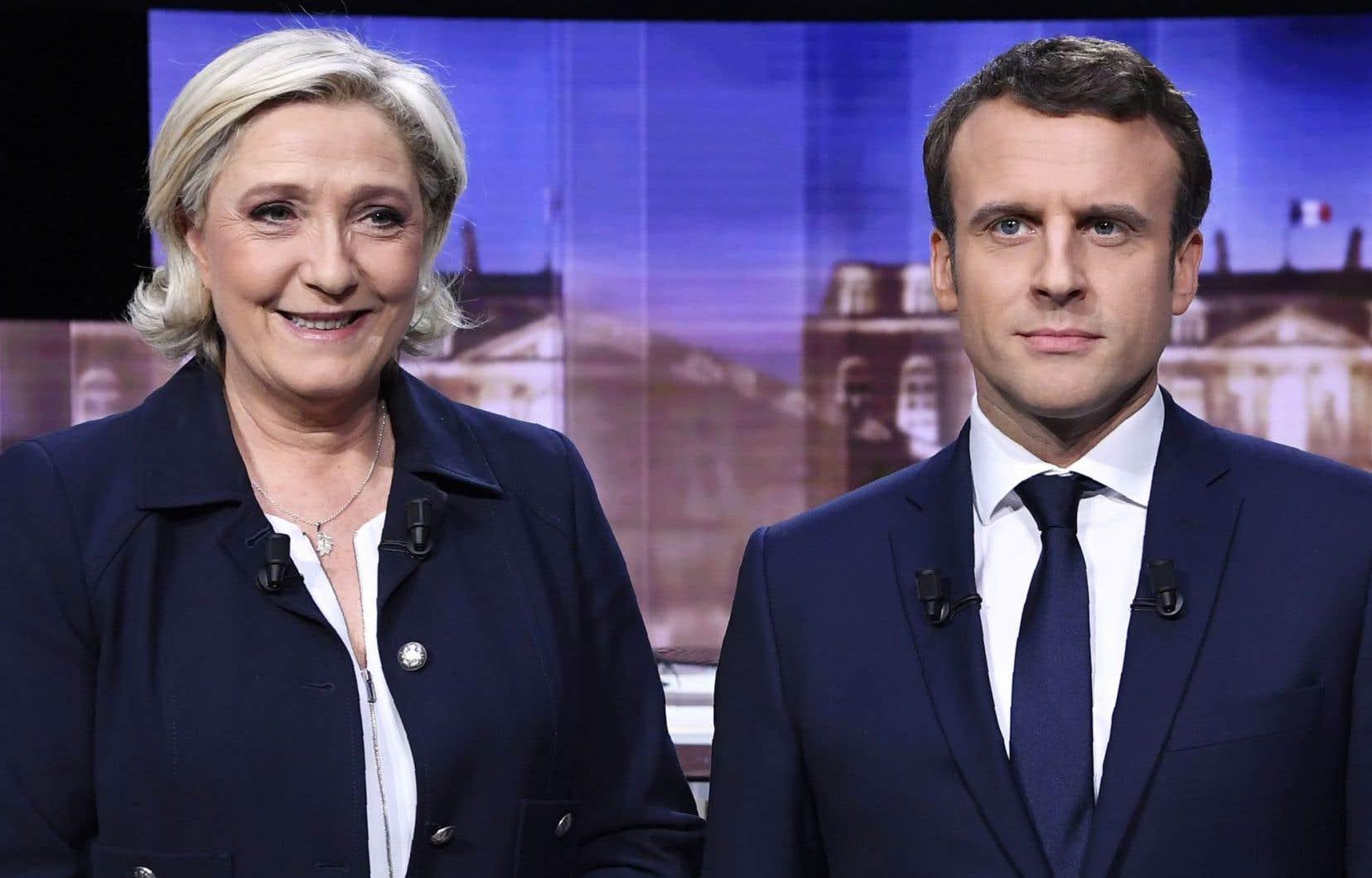 Marine Le Pen et Emmanuel Macron, les deux finalistes à la présidentelle française