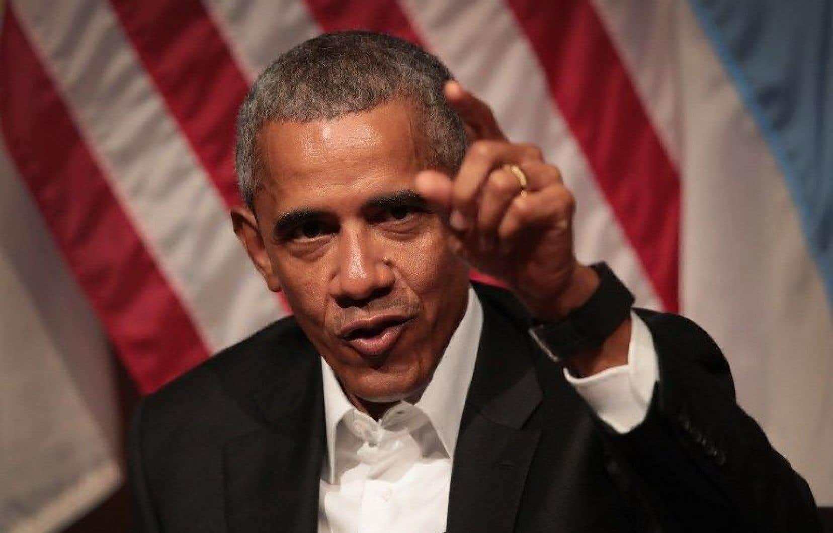 L'ancien président des États-Unis Barack Obama