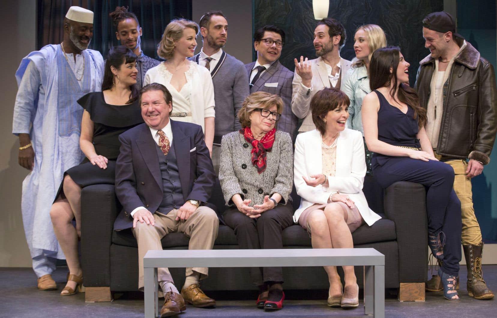Autour de Rémy Girard et Micheline Bernard, la pièce rassemble une distribution multiethnique, dont plusieurs nouveaux visages au Théâtre du Rideau vert.
