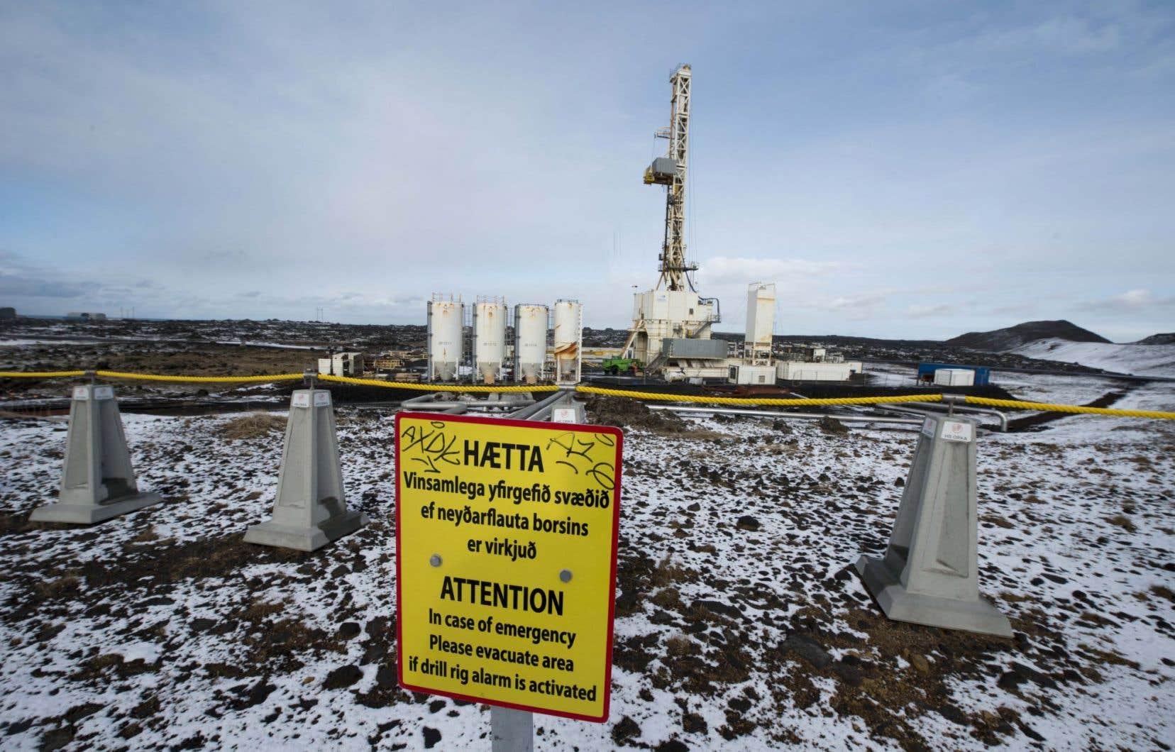 La centrale géothermique de Reykjanes, à l'extrémité sud-ouest de l'Islande.