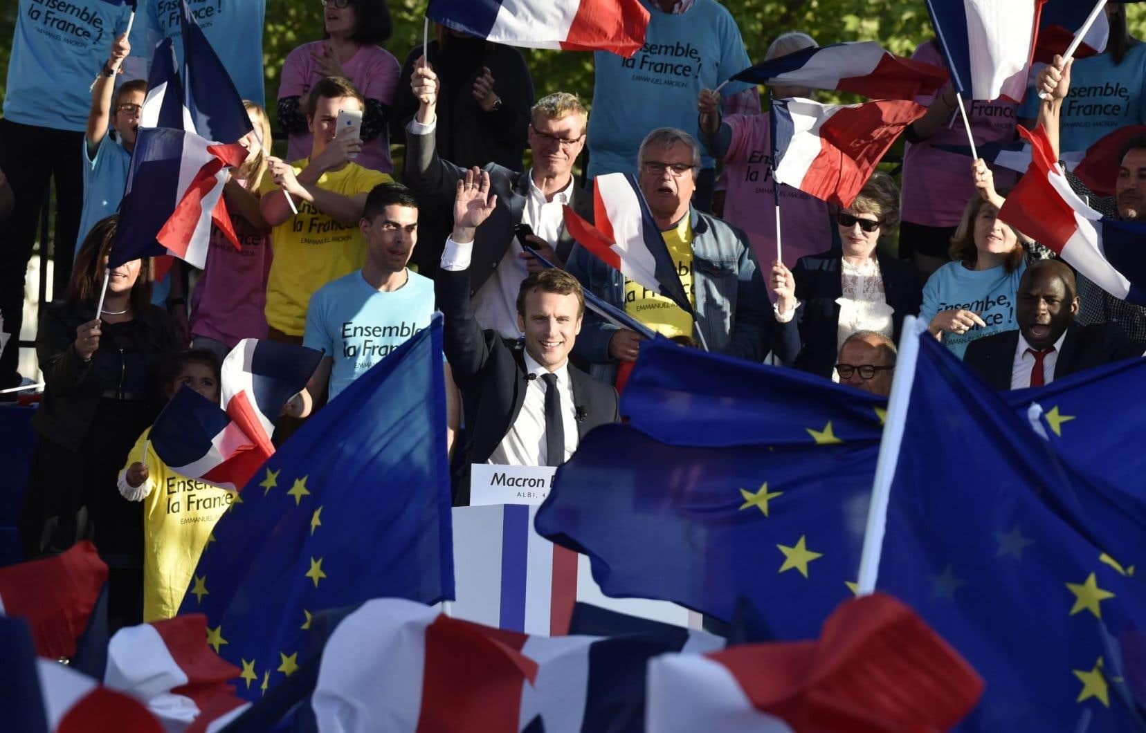Le candidat de la formation En marche!, Emmanuel Macron