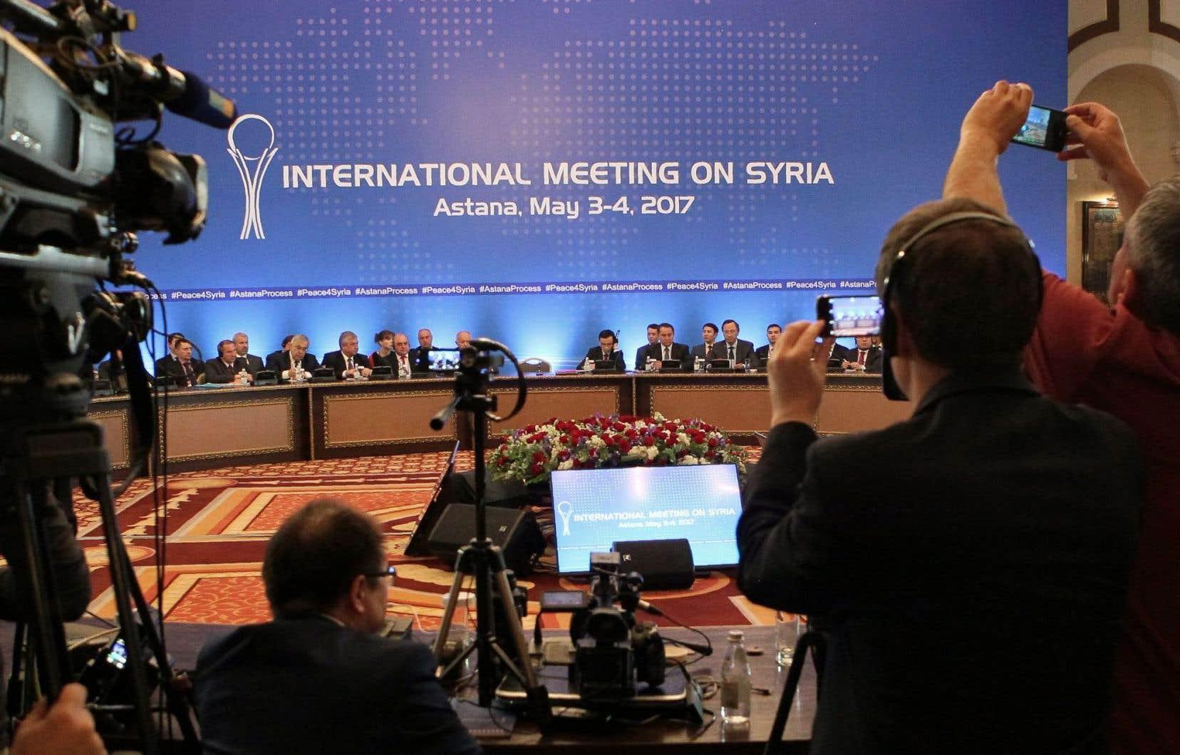 Les négociations entre les délégations russe, iranienne et turque ont eu lieu à Astana, au Kazakhstan.