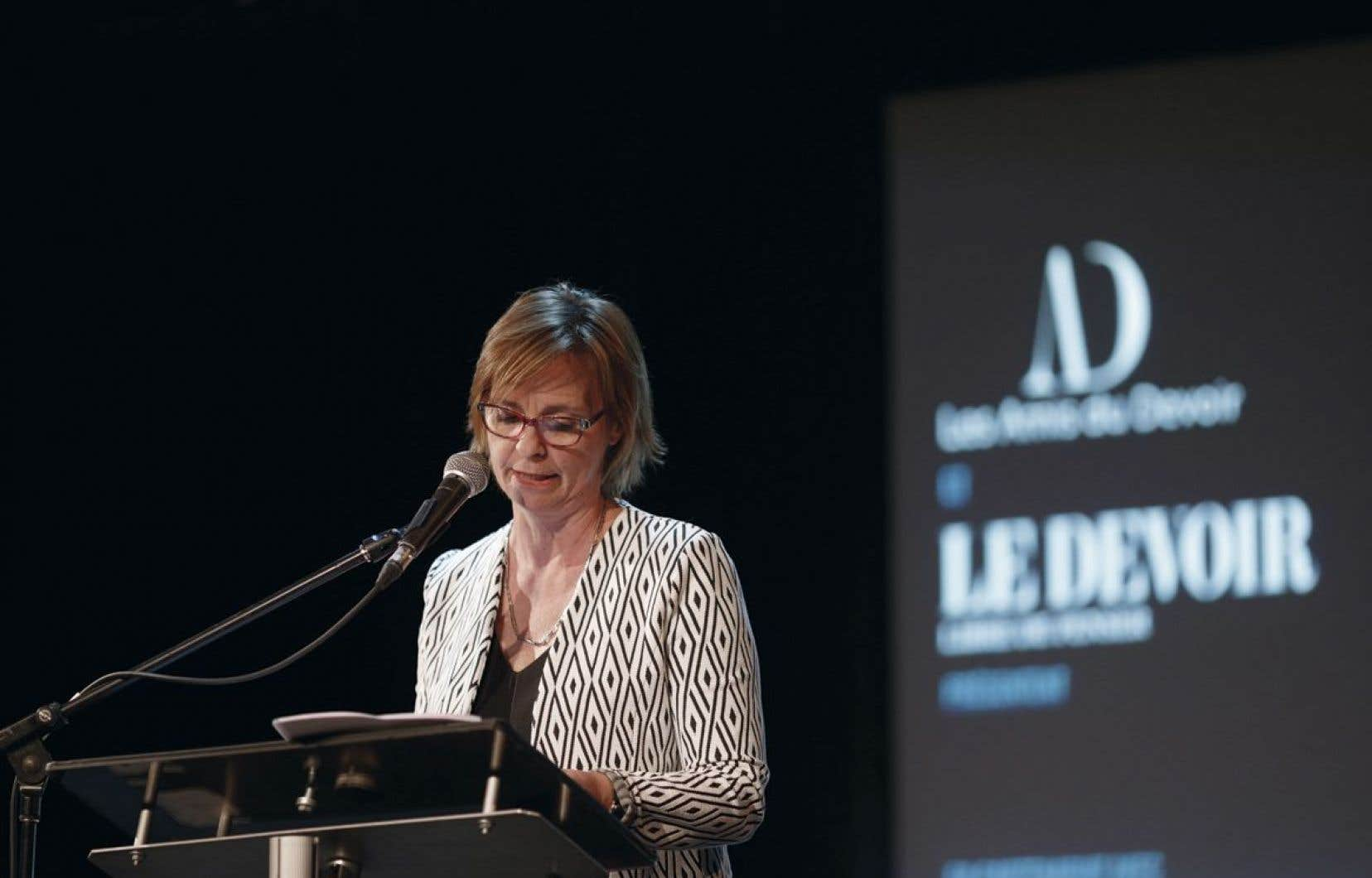 Luce Julien, rédactrice en chef du «Devoir»