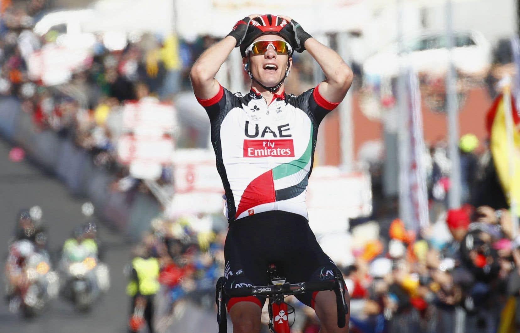 Le Slovène Jan Polanc s'est réjoui d'avoir signé sa «plus belle victoire», deux ans après avoir gagné l'étape de l'Abetone.