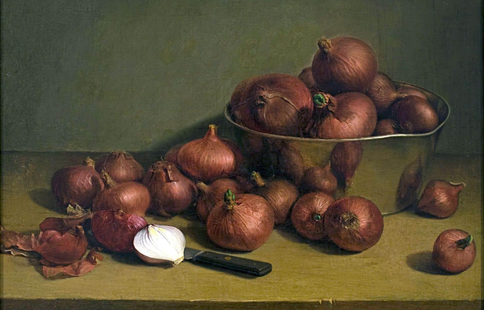 «Nature morte, oignons rouges» (1892), Ozias Leduc