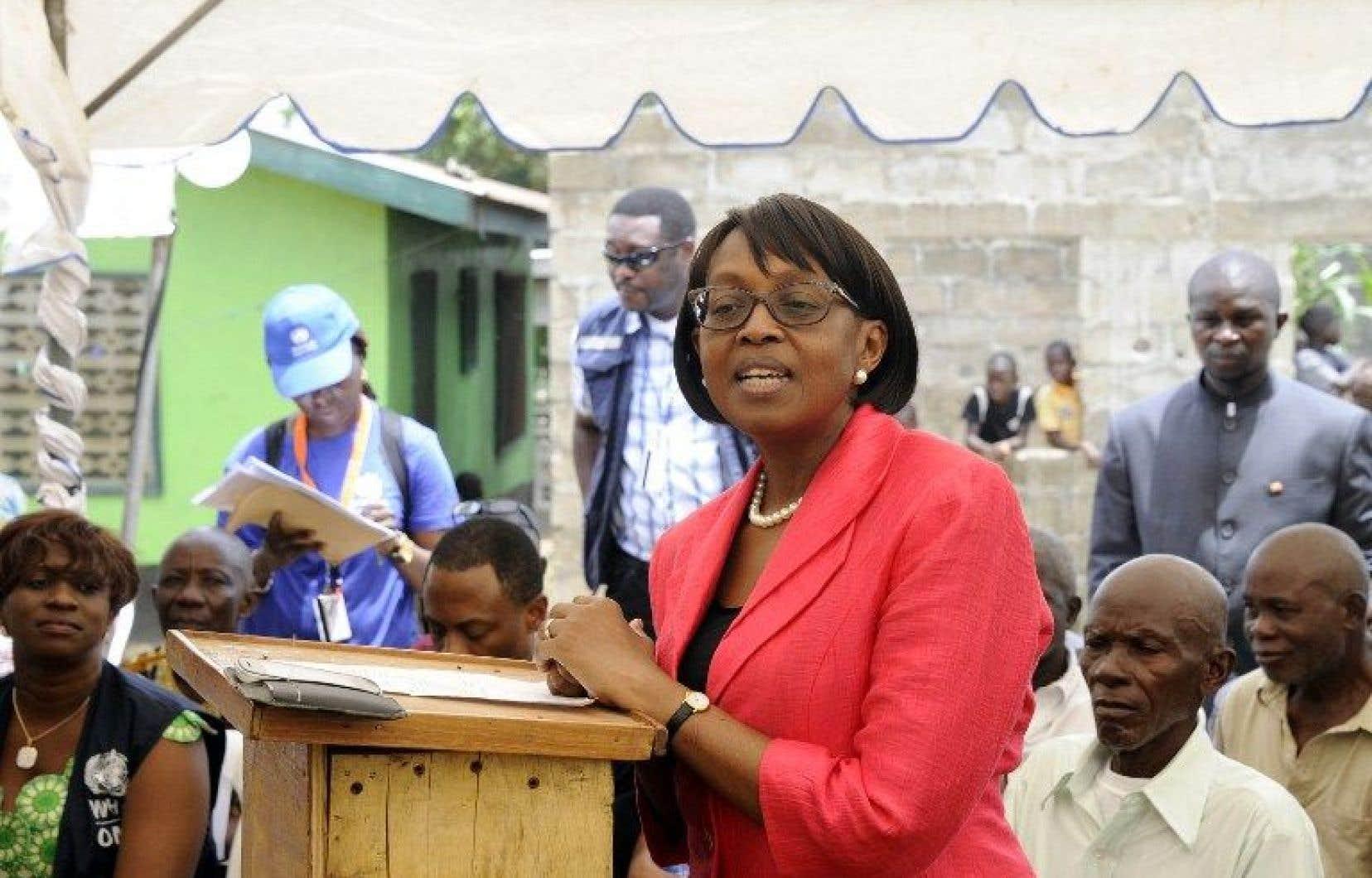 La directrice de l'OMS pour l'Afrique,Matshidiso Moeti, en 2015
