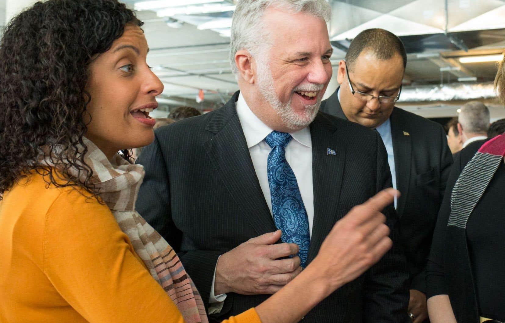 Le premier ministre Philippe Couillard et la ministre de l'Économie, Dominique Anglade