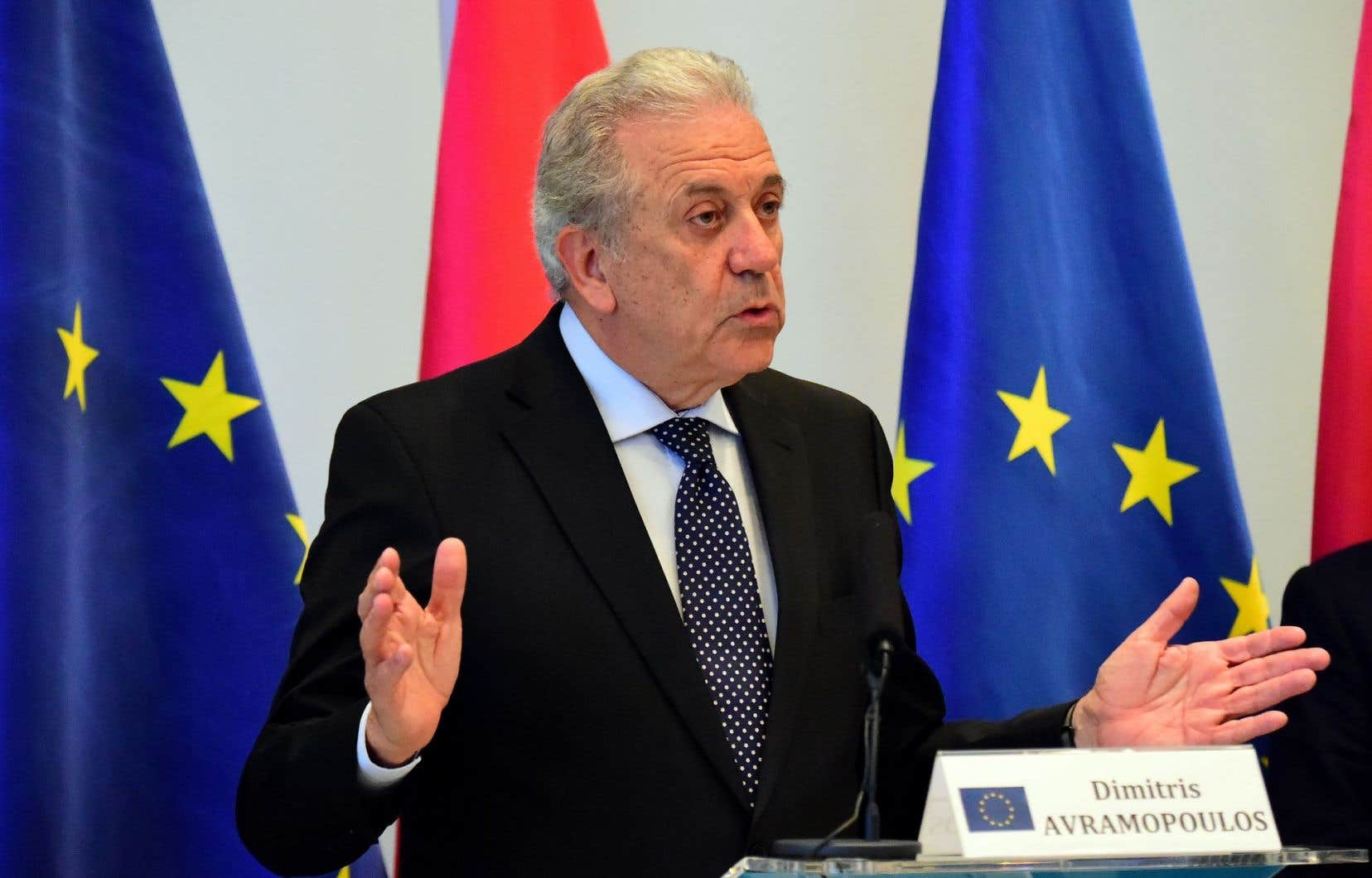 Le commissaire aux Migrations de la Commission européenne, Dimítris Avramópoulos
