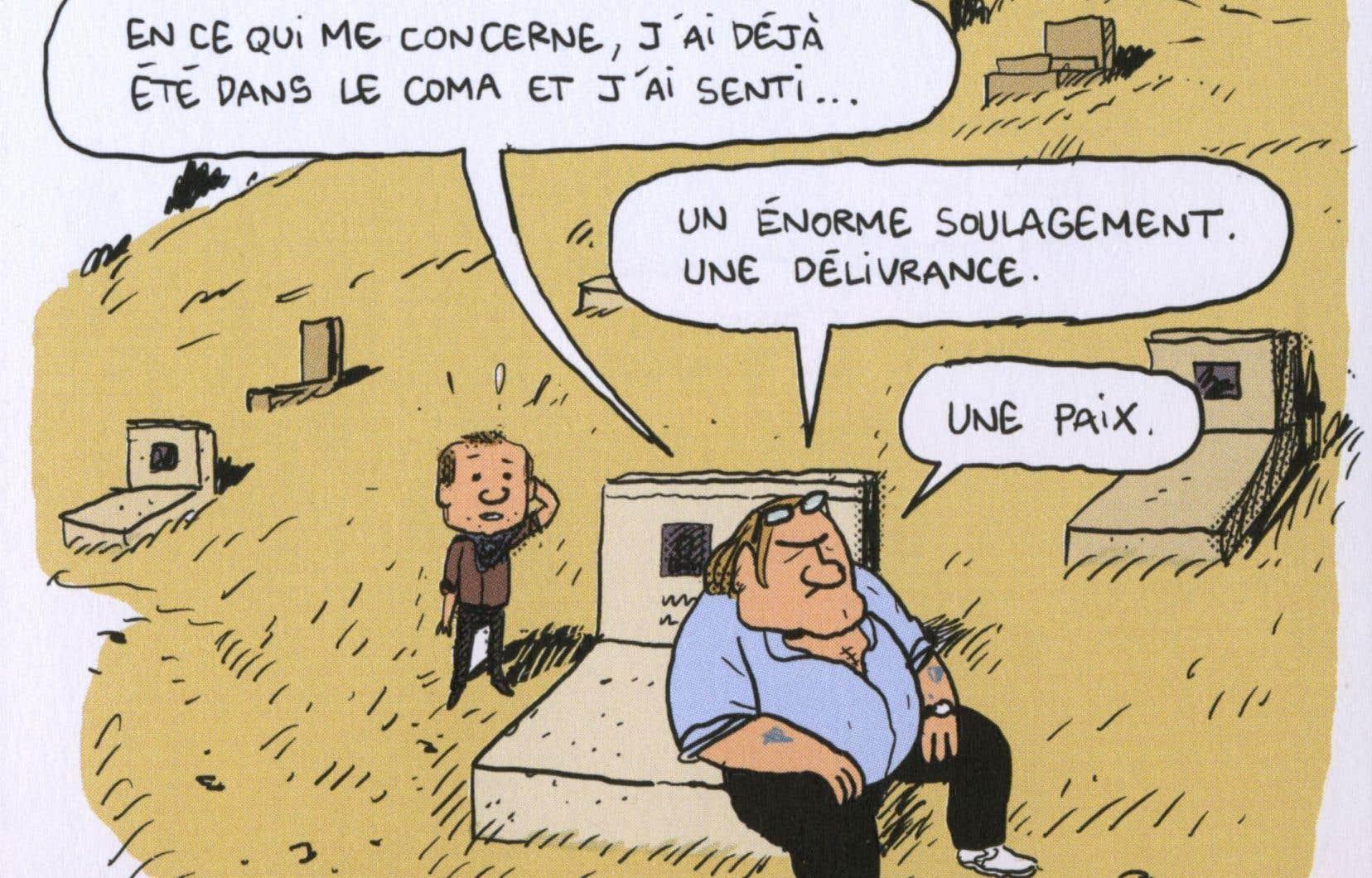 Planche extraite de «Gérard. Cinq années dans les pattes de Depardieu» de Mathieu Sapin